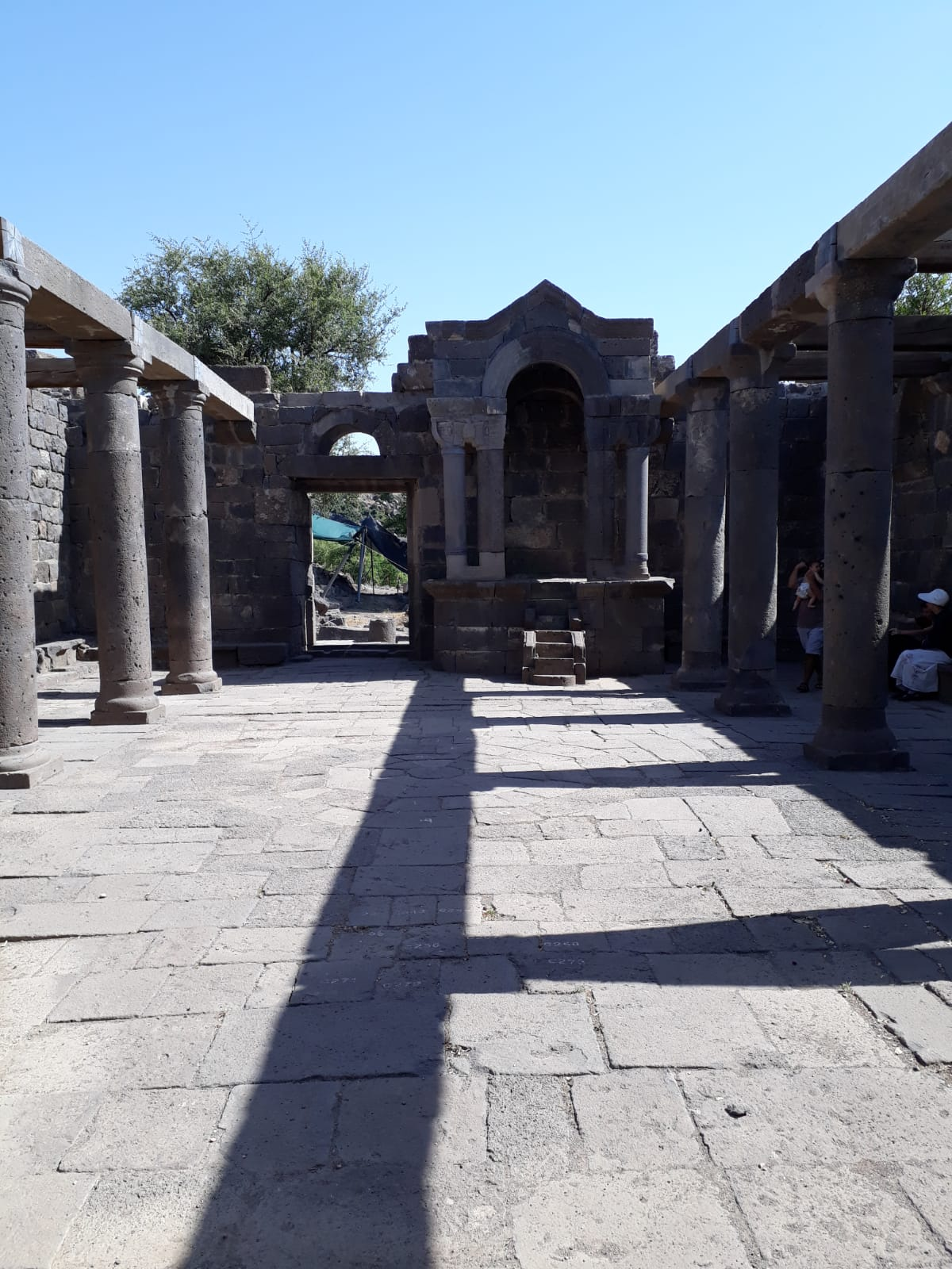 בית הכנסת בשלבי שחזור מתקדמים | צילום: צחי הררי