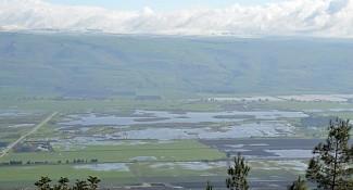 תצפית על מערב הגולן ועמק החולה | צילום: אבי אריש