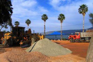 עבודות תשתית בחוף בכינרת לפני פפתיחת עונת הרחצה
