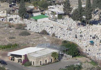אתר קבר רחל בשטח בית הקברות המוסלמי