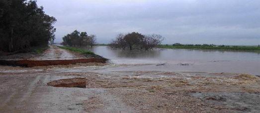 פריצה של הסוללה בתעלה המזרחית בחורף 2013